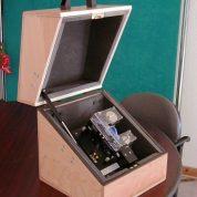 Capot acoustique bois téléphone portable