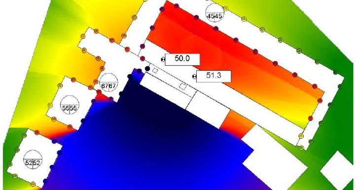 Etude acoustique avec logiciel de cartographie cadnaA