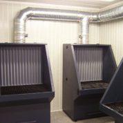 Table meulage acoustique et ventilation