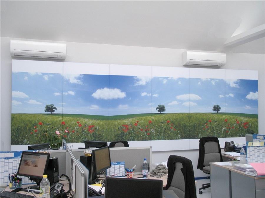 Correction acoustique d un bureau open space avec capteurs et